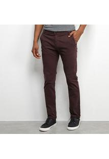 Calça Sarja Tbt Jeans Color Skinny Masculina - Masculino-Café
