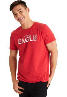 Camiseta Manga Curta American Eagle Gráfica Vermelha