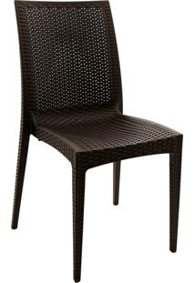 Cadeira Rattan Or Design Marrom