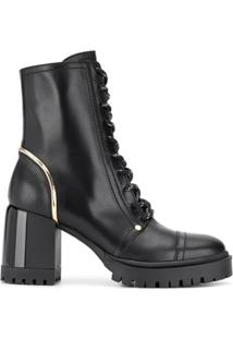 Casadei Chunky Heel Ankle Boots - Preto