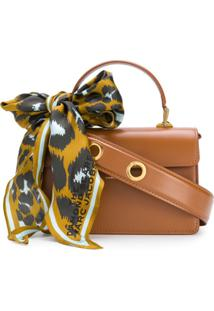 Marc Jacobs The Downtown Scarf-Embellished Tote - Marrom
