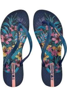 a70d80bb9e9 ... Chinelo Ipanema Wave Floral Feminino - Feminino-Azul+Rosa