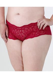 Calcinha Feminina Renda Caleçon Plus Size Marisa