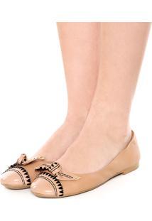 Sapatilha Dafiti Shoes Bordado Bege