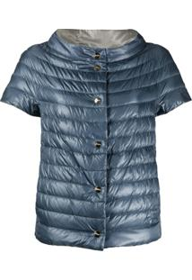 Herno Short-Sleeved Reversible Down Jacket - Azul