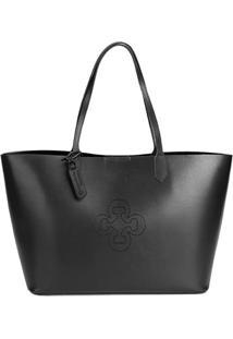 Bolsa Capodarte Shopper Lisa Feminina - Feminino-Preto
