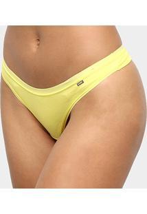 Calcinha Fio Dental Lupo Cotton - Feminino-Amarelo
