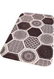 Tapete Abstract 80X50Cm De Poliéster Branco Coisas E Coisinhas