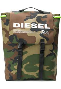 Diesel Mochila Camuflado Com Cordão - Verde