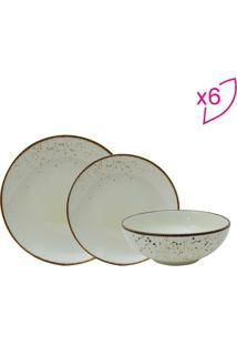 Aparelho De Jantar Nature Cream Em Porcelana- Bege Clarofull Fit