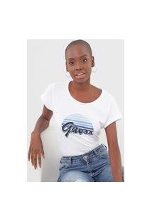 Camiseta Guess Sunset Branca