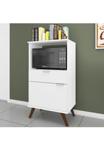Armário De Cozinha Retrô 1 Porta 1 Gaveta Rt 3114 Branco - Móvel Bento