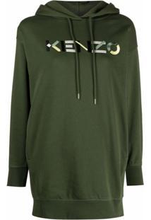 Kenzo Vestido Esportivo Com Logo Bordado - Verde