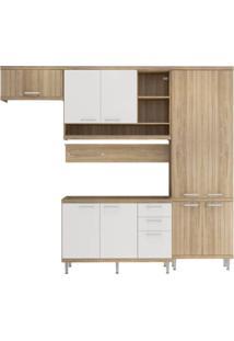 Cozinha Compacta Multimóveis Sicília 5838.132.131 Argila Branco Se