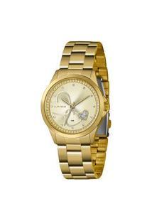 Kit Relógio Feminino Lince Lrgj107L-Km29C1Kx Analógico 5Atm + Brinde | Lince | Champagne | U