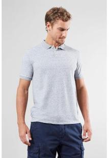 Camisa Polo Reserva Diferenciada Areia Masculino - Masculino-Cinza