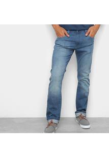 Calça Jeans Reta Wrangler Elastano Bigode Cody Cintura Média Masculina - Masculino