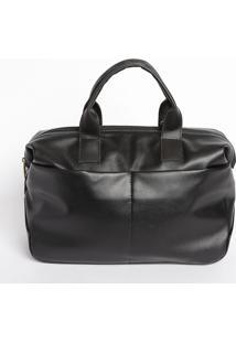 Bolsa Lisa Com Recortes- Preta & Dourada- 24X28X14Cmmr. Cat