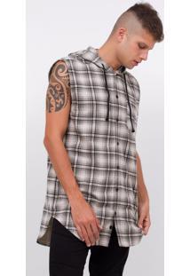 Camisa Xadrez Com Capuz Em Flanela