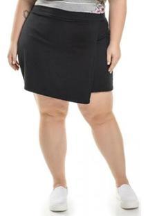 Shorts Plus Size Ponta Roma Envelope Miss Masy Plus Feminino - Feminino