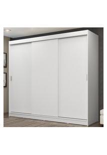 Guarda-Roupa Casal Madesa Kansas 3 Portas De Correr 3 Gavetas Branco