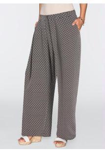 ... Calça Pantalona Preto Estampado c386372b093