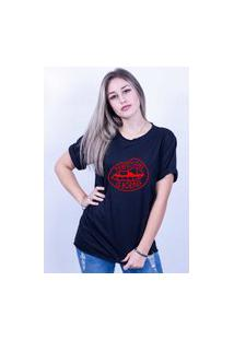 Camiseta Corte A Fio Bilhan Perfection Is Boring Gde Preta