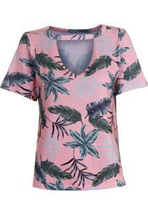 Camiseta Choker Feminina Lara - Rosa