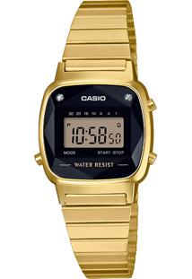 Relógio Digital Casio Unissex La670Wgad1Df Dourado