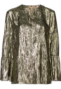 Michael Kors Collection Blusa Com Efeito Amassado - Dourado