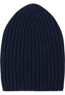 Barrie Knitted Beanie Hat - Azul