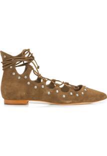 Sapato Fechado Cow - Marrom