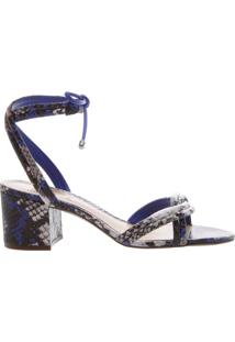 Sandália Block Heel Python Blue | Schutz