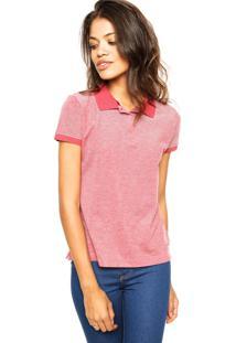 6016cd9a7c Camisa Pólo Poliester Vermelha feminina