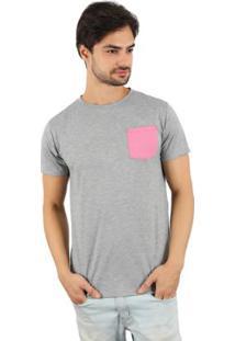 Camiseta Lat Bolso Masculina - Masculino