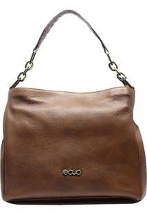 Bolsa Em Couro Recuo Fashion Bag Tiracolo Marrom