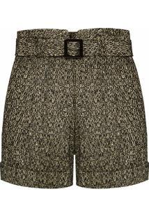 Short Feminino Tweed - Preto