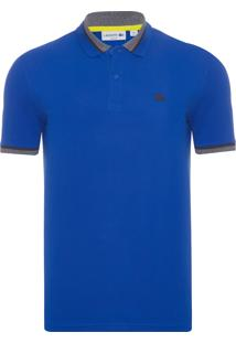 Polo Masculina Mc - Azul