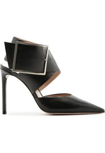 Scarpin Maxi Buckle Cross Black | Schutz