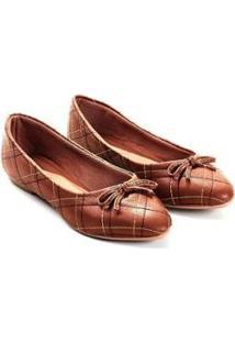 Sapatilha Napa Mizzi Shoes Matelassê Com Lacinho Feminina - Feminino