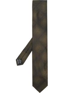 Tom Ford Gravata Com Estampa Xadrez - Verde