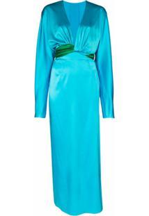 Matériel Vestido Envelope Bicolor - Azul