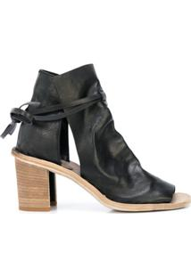 Officine Creative Ankle Boot Com Amarração - Preto