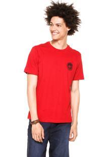 Camiseta Quiksilver Watermarked Vermelha