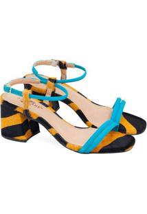Sandálias Saltare Michelle Feminina - Feminino-Azul Turquesa
