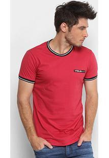 Camiseta Polo Rg 518 Retilínea Masculina - Masculino-Vermelho