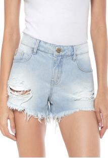 f02cee377 R$ 139,97. Dafiti Short Azul Feminino Coca Cola Jeans Destroyed ...
