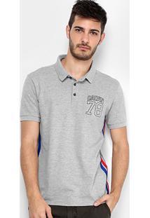 Camisa Polo Calvin Klein Piquet Listra Lateral Masculina - Masculino