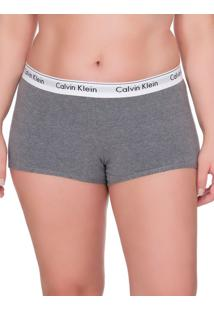 Calcinha Boyshort Moder Cotton Plus Size - Grafite - 2Xl