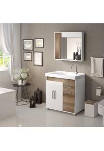 Conjunto De Banheiro Stm Moveis A38 Branco Monastrel Se